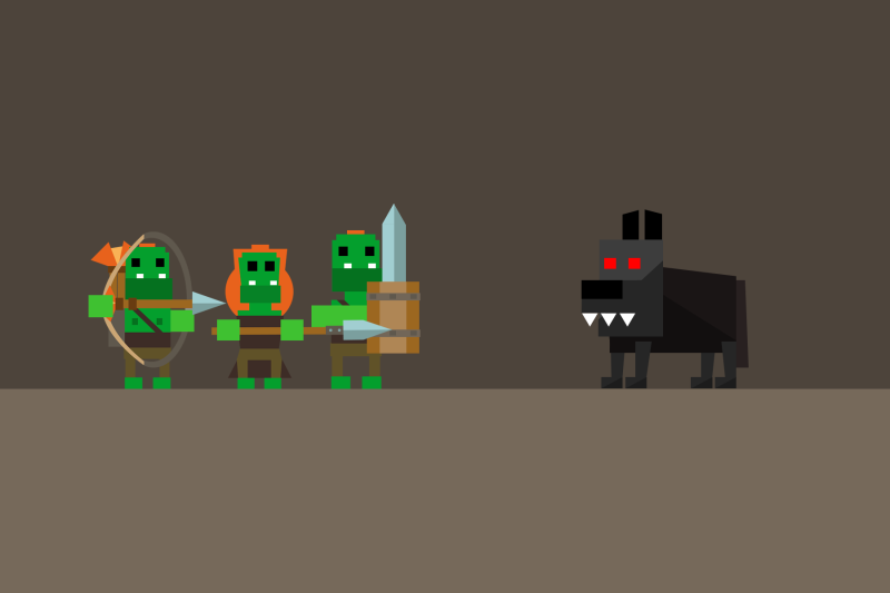 Orcs Wolf Dog Game
