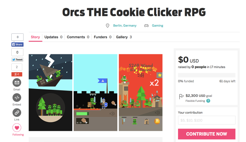 orcs crowdfunding games indiegogo