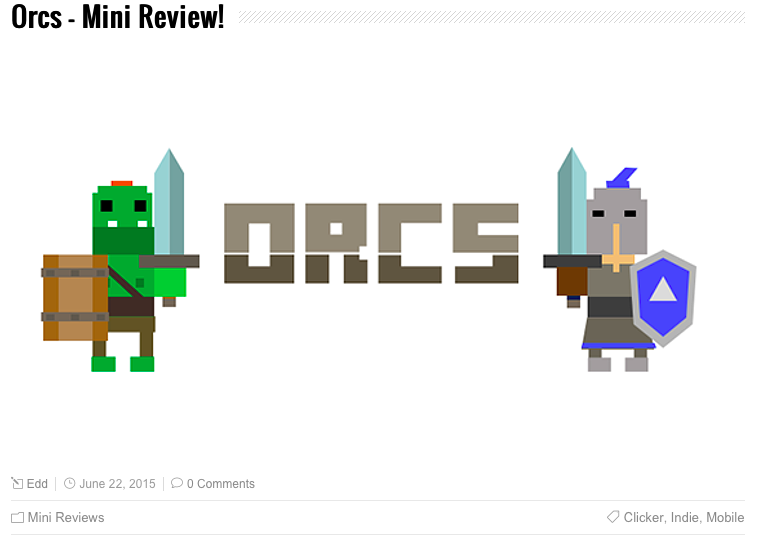 David Zobrist Indie Game Orcs